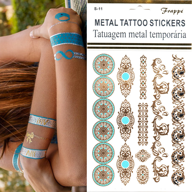 New Fashion 1pcs Indian Style Traumatic Shelter Inspired Designs Temporary Flash Tattoo Stickers On The Body Flush Chalker Tatoo(China (Mainland))