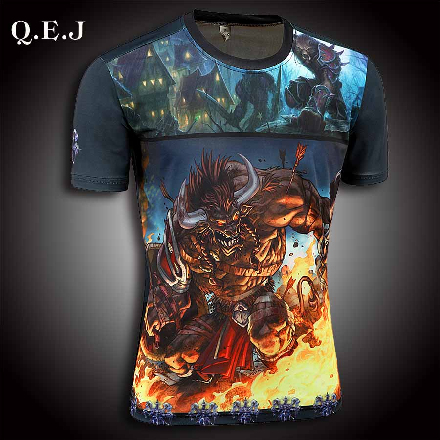 New brand Q.E.J 2016 men Designer T Shirt Casual Quick Dry Slim Fit running Sport shirts bts Tops & Tees large size(China (Mainland))