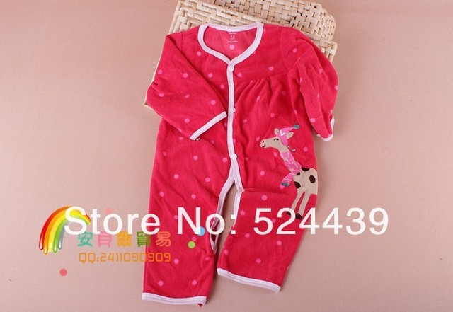 drop shipping Promotion, Carter's Cute Monkey Long Sleeve Fleece Baby Romper, baby boys jumpsuit, baby bodysuit (In Stock)