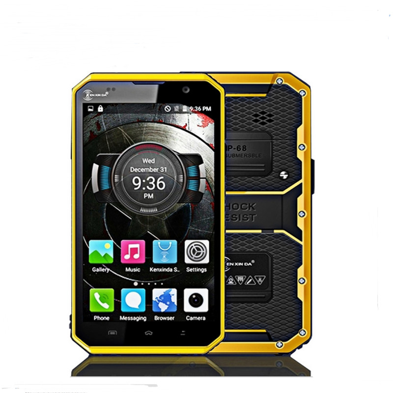 Ken Xin Da Proofings W9 Smartphone 6Inch 1920*1080 Android 5.1 Waterproof MTK6753 Octa Core 2G+16G4000mAh 4G LTE Mobile Phone(China (Mainland))