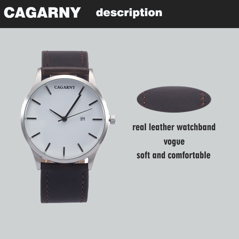 top luxury brand cagarny quartz watches for men watch vogue leather watchband dropshipping  22 (3)