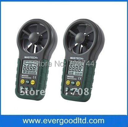 Mastech MS6252B Digital Anemometer T&RH Sensor Air Wind Speed Velocity Meter USB Interface(China (Mainland))