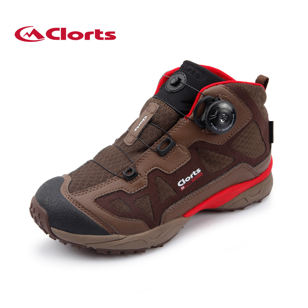 Фотография 2016 Clorts Free Shipping Unisex Trails Shoes Boa Fast Lacing Waterproof Outdoor Trekking Boots For Lovers 3B025D