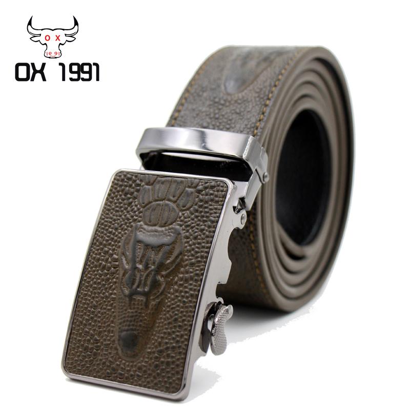 Crocodile Belt For Men,Brand Genuine Leather Belt Men,Fashion mens belts luxury,Handmade Designer Leather belt,Strap male(China (Mainland))
