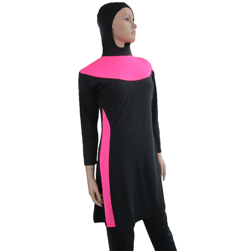 Islamic swimsuits high waisted bathing suits women long sleeve swimwear tankini neck swimsuit - Green textile Co., LTD store