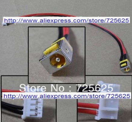 Free shipping 10 pcs Laptop dc power jack Connector with Cable Socket for Acer Aspire 7738G<br><br>Aliexpress