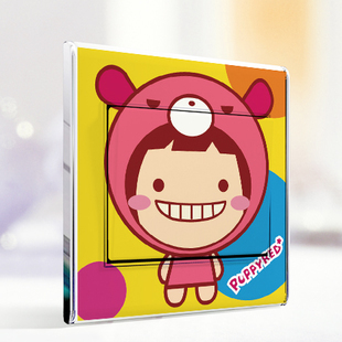 Wall stickers wall stickers multicolour cartoon doll switch stickers door stickers 5