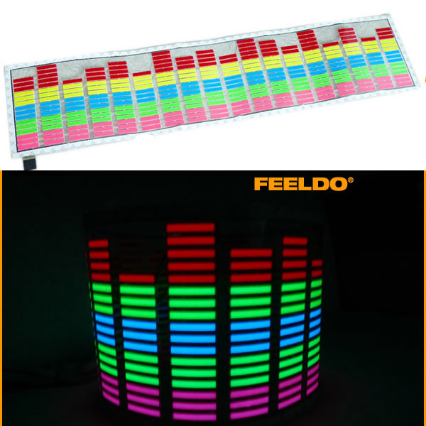 Car Music rhythm lamp led sound activated equalizer Multi color flashing light 114*30CM(China (Mainland))