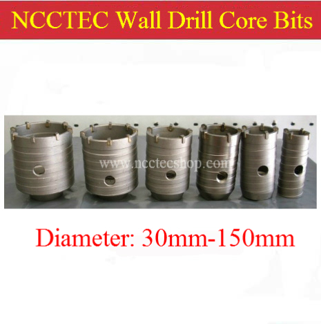 110mm diameter cabide wall hole drill core bits cutters + 110mm long square handle connection pole NCW110110S | FREE shipping<br><br>Aliexpress