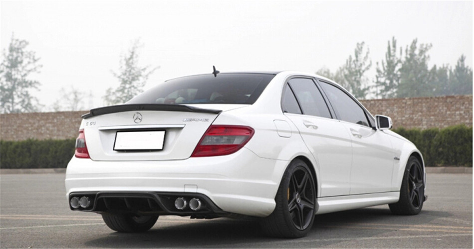 High Quality Carbon Fiber Spoiler For Mercedes-Benz W204 C180 C200 C230 C260 C280 C300 C63 C74AMG Brand New Rear Spoilers