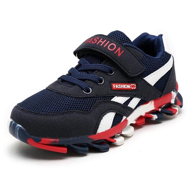 Kids Shoes Boys и Девушки Твердые Дышащий Новая Мода 2017 Детей Shoes Спорт Бренд Детей Мальчиков Кроссовки