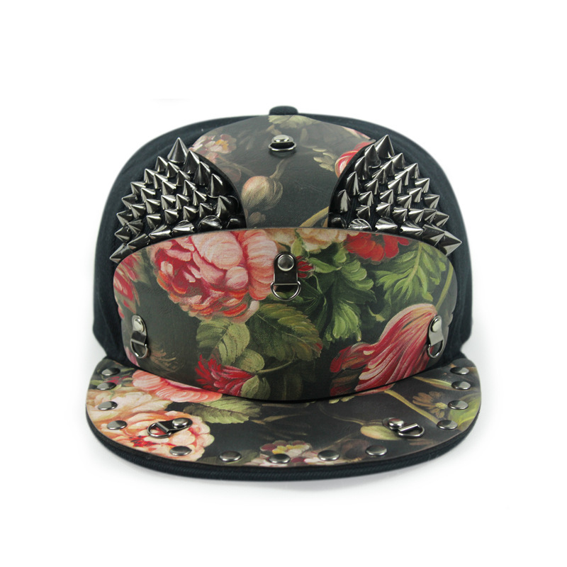 snakeskin armor golden rivets gorras snapback hat male outdoor street hip-hop cap 5 panels baseball horse bone aba reta - Fashion first shop store