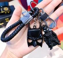 1pc alta qualidade Dos Desenhos Animados do metal Modelo boneca Figuras de Ação Super-heróis Ironman Spiderman BAT Bolso Chaveiro Brinquedos para Meninos presente(China)