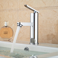 Cheaper Promotion Bathroom Hot and Cold Water Basin Faucet Deck Mount Single Handle Chrome Finished Mixer