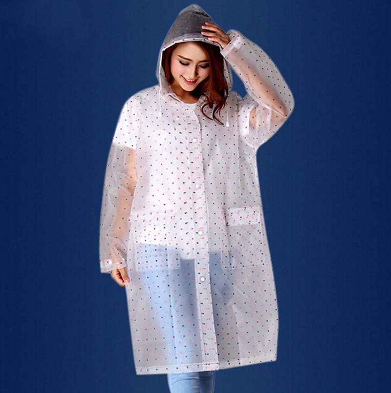Бесплатная доставка Grils пальто дождя мода с точкой плащи водонепроницаемый пончо мэтт матовый белый непромокаемый плащ открытый ткань