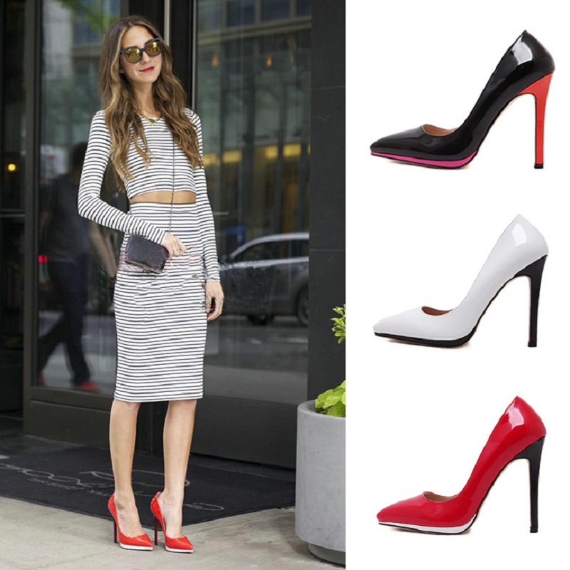 Hot 2016 New Arrival High Heels Shoes Women Sexy Platform Pointed Toe Ladies Pumps Escarpins Wedding Shoes F420