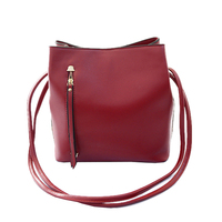 2015 New Solid Bucket Bag PU Leather Women shoulder Messenger Classical Famous Brand designer hand bag Lady bolsos Rivet Handbag