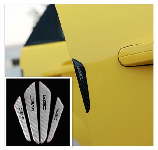 Black /Silver Car Door Protector Fiber side Edge Protection Guards Stickers Skoda/ Octavia / Superb/Fabia/Rapid/ Yeti/ - Stv store