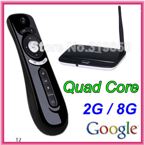 Mini pc android 4.4.2 TV box CS918 RK3188T Quad Core Android TV Box Wifi Cortex-A7 1.4Ghz AV Port 2GB/8GB + fly air mouse T2(China (Mainland))