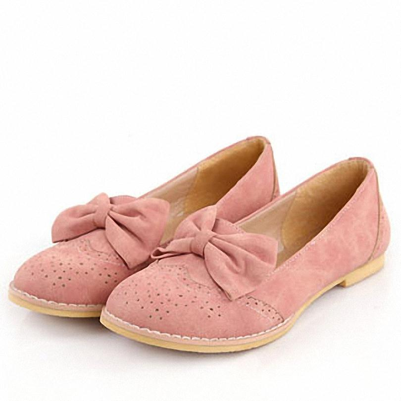 ENMAYER 2014 New High Quality Genuine cute bow Flats Fashion Sexy Women Casual Shoes Size 34-43<br><br>Aliexpress
