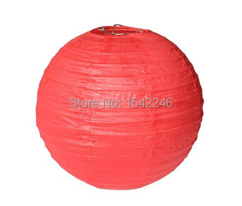 8inches Chinese paper lanterns Paper lamps with Red color 5pcs/lot for Christmas decoration and Festival decoration supplies(China (Mainland))