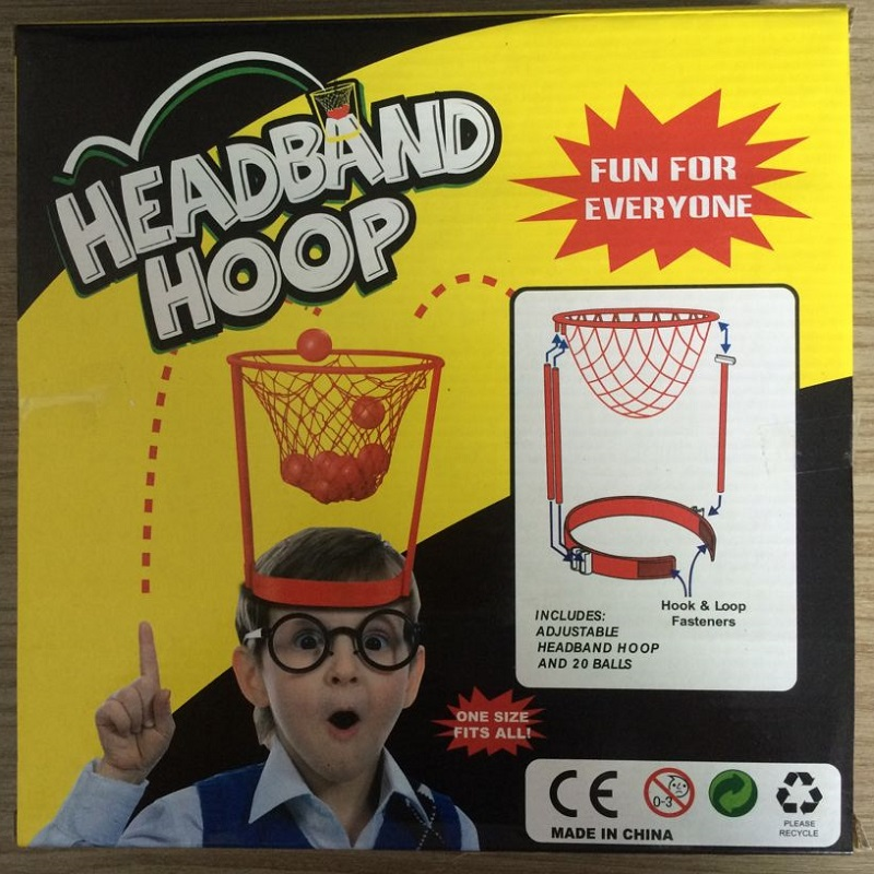 2017 Fun Sports Toy Headband Hoop Game ring for basketball Outdoor toys Throw the ball with 20 balls toys for children(China (Mainland))