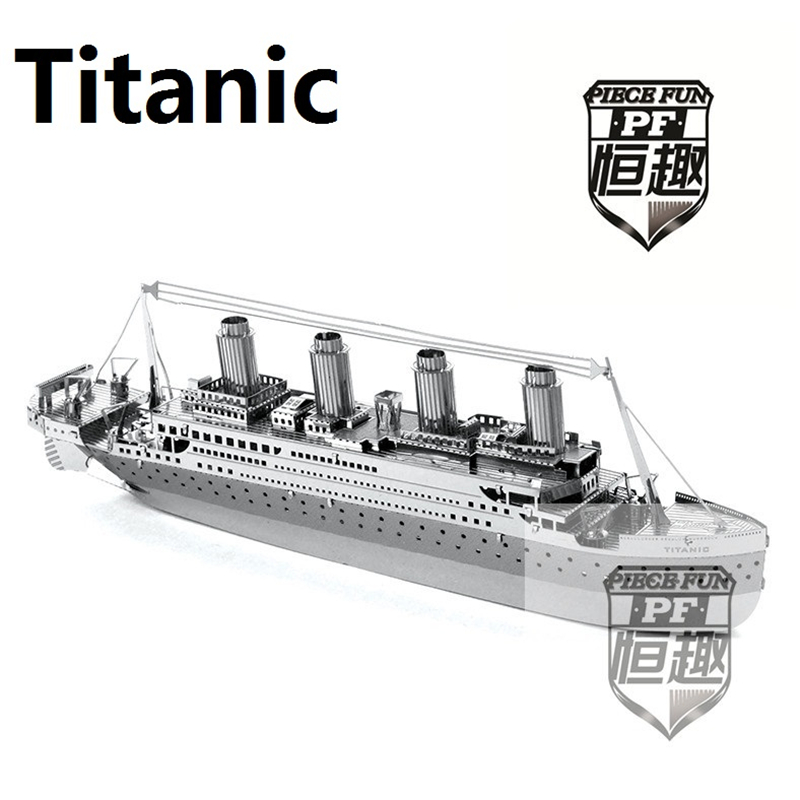 New Listing 3D Metal Puzzle The Titanic Model DIY Brain Puzzles metalic Car Boats jigsaw High quality the plane model Boy gifts(China (Mainland))