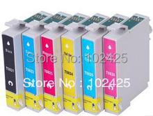 1set  Ink Cartridge For EPSON Photo T50 R290 R390 RX590  RX610 RX690 TX650 TX700W TX800FW  printer