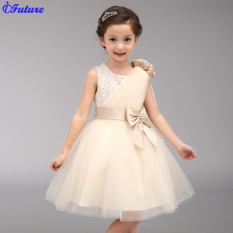 2015 New Summer Style Dresses For Brand Girls Kids Infant Children Princess Dress Clothes vestidos Girl Formal Party Dress(China (Mainland))