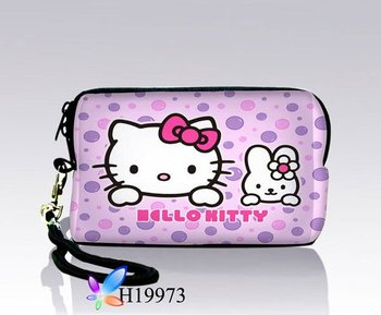 Digital Camera Sleeve,Free Shipping,Neoprene Hello Kitty Shape Camera Case Bag Phone Cover Pouch With Strap