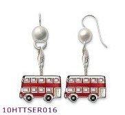 Wholesale  earring London double deck Bus style ,925 silver jewelry,925 Sterling Silver Earrings wholesale jewelry