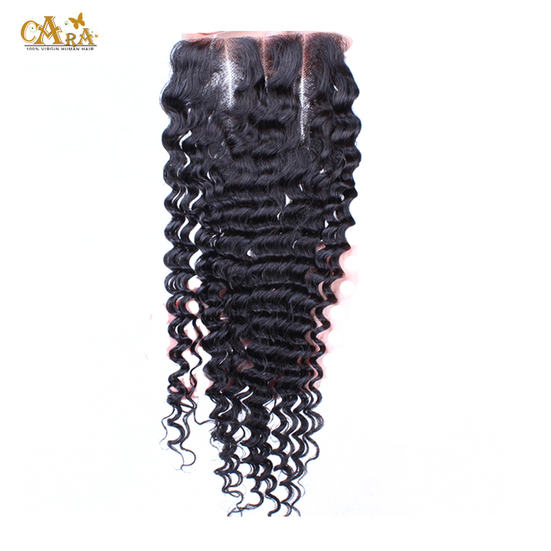 6A Malaysian Virgin Hair Kinky Curly Closure 4x4 Rosa Human Hair Lace Closure With Bleached Knots 10-20 Inches Natural Color <br><br>Aliexpress