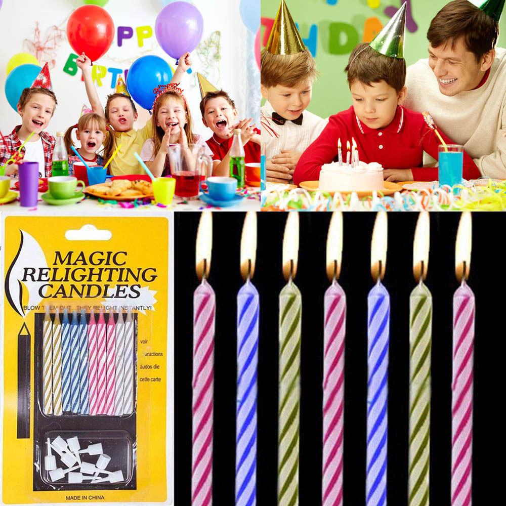 20 PCS Magic Relighting Candle Relight Birthday Party Fun Trick Cake Xmas Joke Gift(China (Mainland))