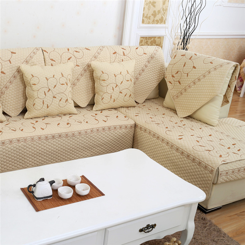Sofa cushion fabric couch seat cover antislip sectional for How to cover furniture with fabric