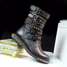 Studded combat boot online shopping-the world largest studded ...