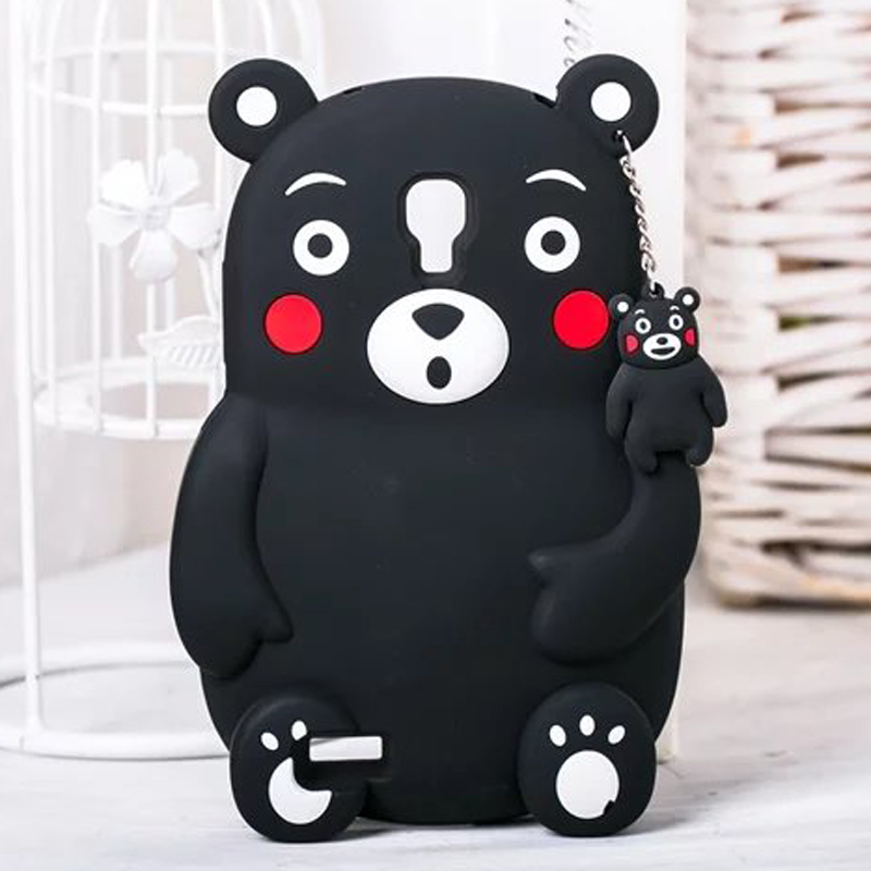 For xiaomi redmi note case 3D cartoon silicone soft gel monsters Japan Kumamon black bear animal cover cases for redmi note 1(China (Mainland))