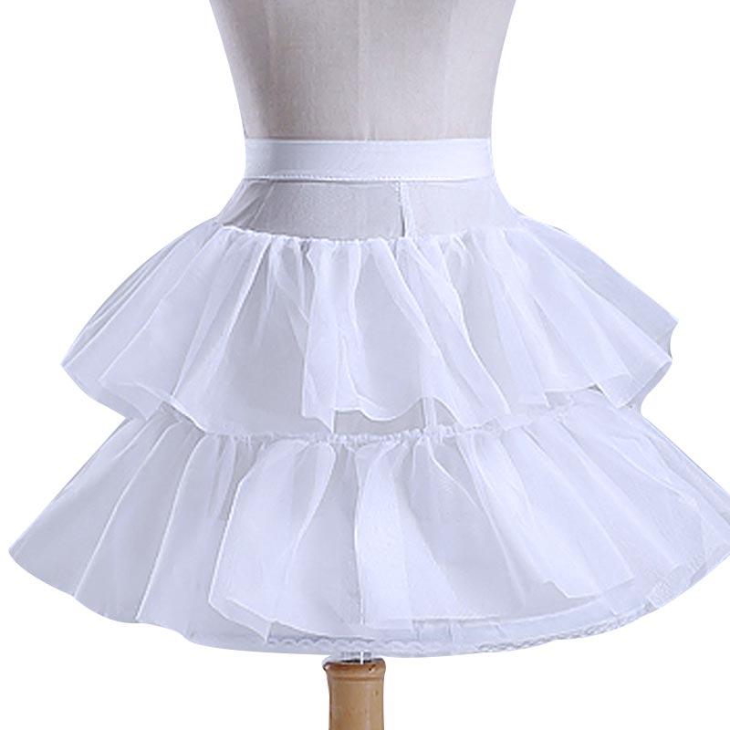New Fashion Baby Girls Underskirt Cotton Pure White Bride Wedding Dress Short Skirt A Line Party Crinoline Petticoat/Underskirt