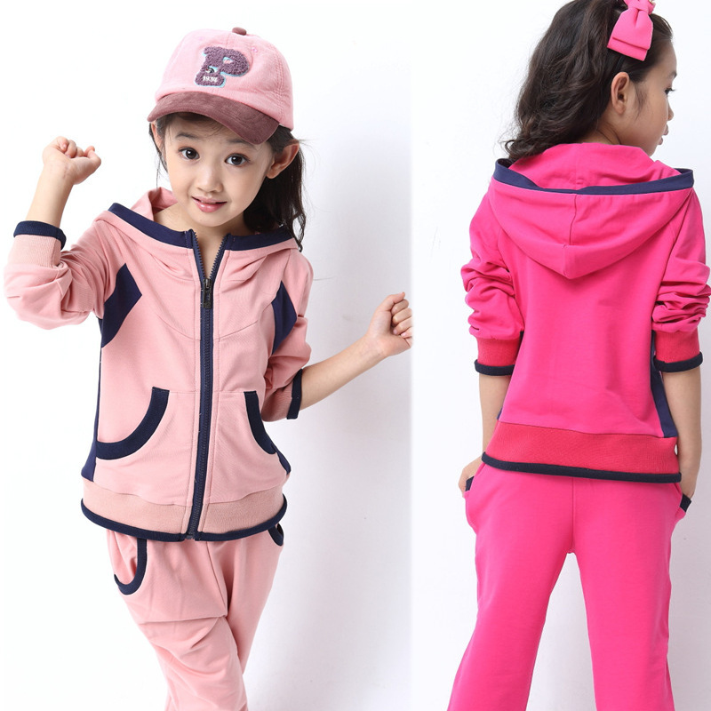 New 2014 Girl Clothing Set Autumn Children Hoodies+Pants Twinset Kids Casual Sports Suit Girls Clothes Sets&Tracksuits Sportwear