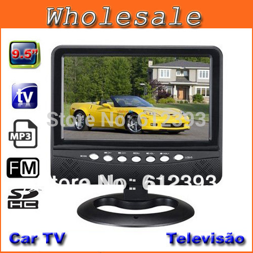 Home Video Televisions 9.5 Inch TFT LCD Color Analog TV With Wide View Angle Support SD/MMC Card USB Flash Disk Portable TV(China (Mainland))