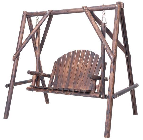 Muebles de exterior ocio exterior de madera oscilaci n for Muebles de madera para patio