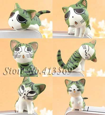 New lovely chi's cat kitty minipol ear cap , Ear Hole Cap ,Dustproof plug 3.5mm,dust cover,9pcs/lot Free shipping