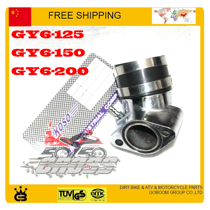 free shipping OKO KOSO carburetor intake pipe inlet manifold connecting GY6 scooter 125cc 150cc 200cc performance parts(China (Mainland))