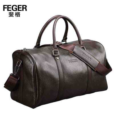 2016 Top Men Genuine Leather FEGER Brand Messenger Shoulder Travel Handbag Sports Bags Hiking Business Tote Bags<br><br>Aliexpress
