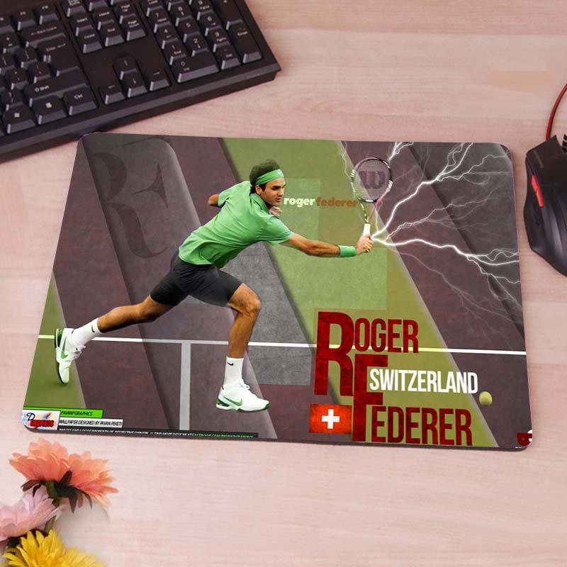 Roger Federer Lightning Strike Mouse Pads Rubber Non-Skid Mouse Pad <br><br>Aliexpress