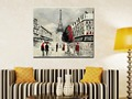 Free Shipping 100 Hand Painted Modern Wall Art Black And White Streetscape Oil Painting On Canvas