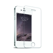 Ultra Thin 0.26mm 2.5D 9H Tempered Glass Screen Protector for iPhone 4s 4 no retail package