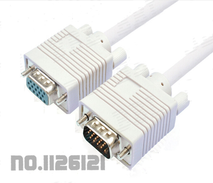 VGA extension cable male to female computer monitors projectors data cable 3M(China (Mainland))