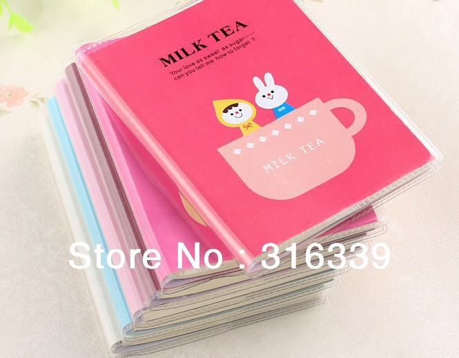 Free Shipping!! Milk Tea Time Soft PVC Leather Diary Book /Notepad/Memo Pad/ Note Book Wholesale,12PCS/LOT(China (Mainland))