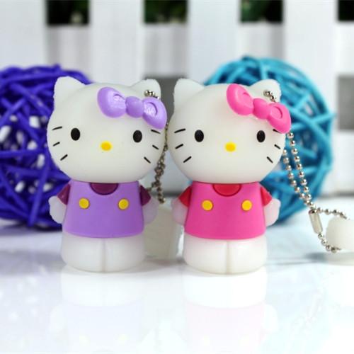 real capacity mini usb drives cute anime cartoon hello kitty 4GB/8GB/16GB/32GB flash memory Birthday gifts pendrives(China (Mainland))