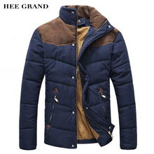 2016 Hot Sale Men Winter Splicing Cotton-Padded Coat Jacket Winter Plus Size Parka High Quality MWM169(China (Mainland))